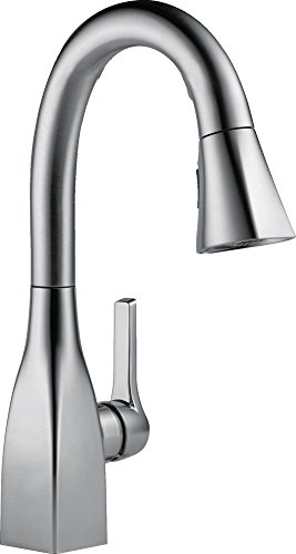 Delta Faucet Mateo Single-Handle Bar-Prep Kitchen Sink Faucet with Pull Down Sprayer and Magnetic Docking Spray Head, Arctic Stainless 9983-AR-DST