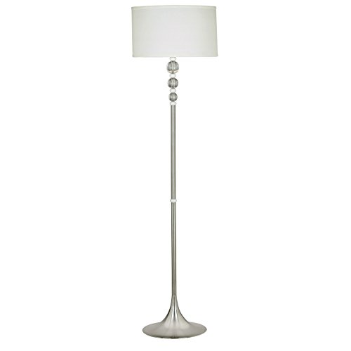 Simple & Chic Floor Lamp with White Drum Shade - 58 Inch, (58 Tall Floor Lamp)