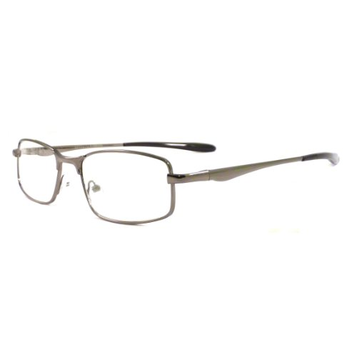 METAL Optical Eyeglass Frame Rx-able Clear Lens Eye Glasses GUNMETAL/BLACK