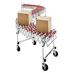 Nestaflex-Expandable-Portable-Conveyors-Red-nylon-with-celcon-bushings-WP-814A