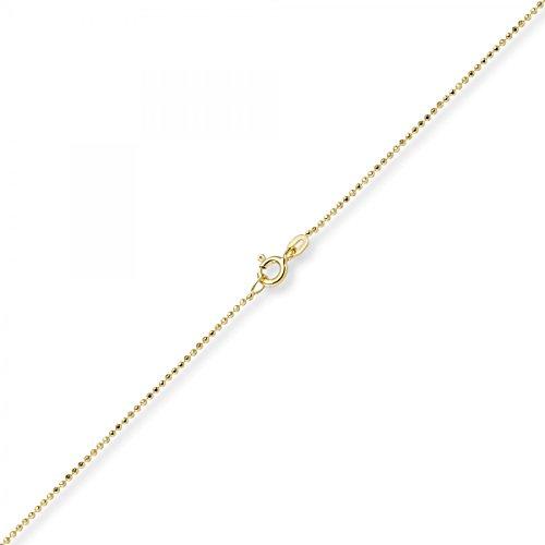 Schmuck-Krone - Goldschmuck Chaîne boules 1mm diamantée 60 cm en or jaune 585