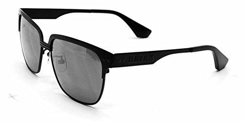 Black Flys Men's 'FLY KENNEDYS' Black Frame / Silver Mirrored Lens Wafarer 59 mm - Kennedy Sunglasses