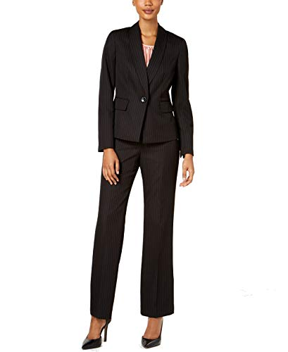 Le Suit Womens Petite 2 Btn Peak Lapel Pant Suit