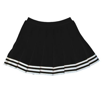 Elastic Waist Knife Pleat Skirt (Black, Adult Medium)