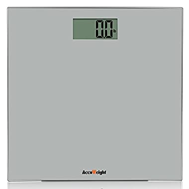 Accuweight Digital Body Weight Bathroom Scale, 400lb/180kg, Gray