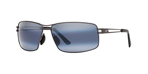 Maui Jim Mens Manu Sunglasses (276) Gunmetal/Grey Metal - Polarized - - Maui Jim Pilot