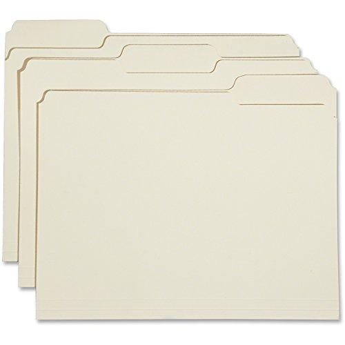 Skilcraft NSN5830556 File Folders, Top Tabs, Ltr, .33 Cut, 2 Ply, 100-BX, (0.33 Assorted Tab)