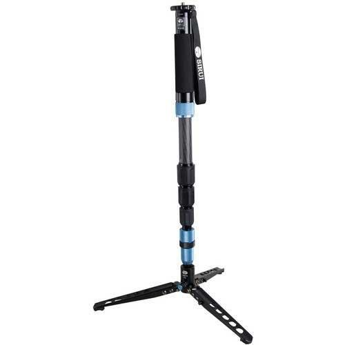 Sirui P-324SR 4 Section Carbon Fiber Photo/Video Monopod with Support Feet, Extends to 5.7', Folds to 2.4' by Sirui