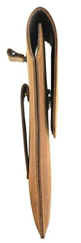 OrLine Holster Vertikal Tasche für Handys Apple Iphone 5 Gürteltasche und Schlaufe Slim Design Case Echt Ledertasche Hülle Handytasche von OrLine in Braun Nubuk mit Magnetverschluss Handgefertigte
