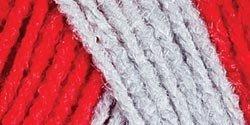 Bulk Buy: Red Heart Team Spirit Yarn  Red/Grey E797-988