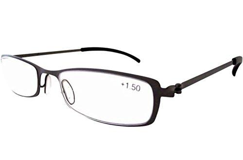 Eyekepper Stainless Steel Frame Reading Glasses Gunmetal - Frame Steel Glasses