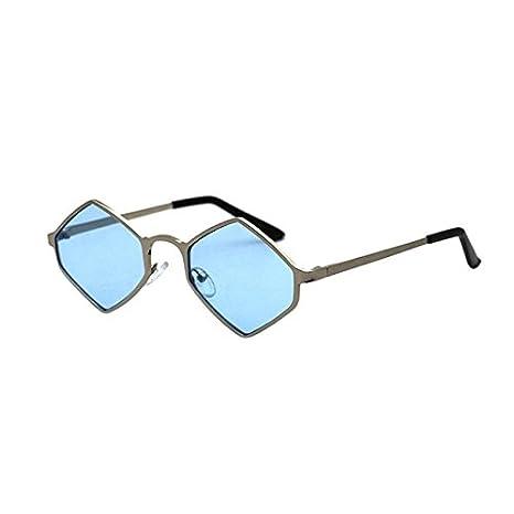 Burenqi Rhombus Sonnenbrille Frauen Männer Marke Designer Metallrahmen Brillen Vintage Fashion Square Schwarz Rot UV400, B
