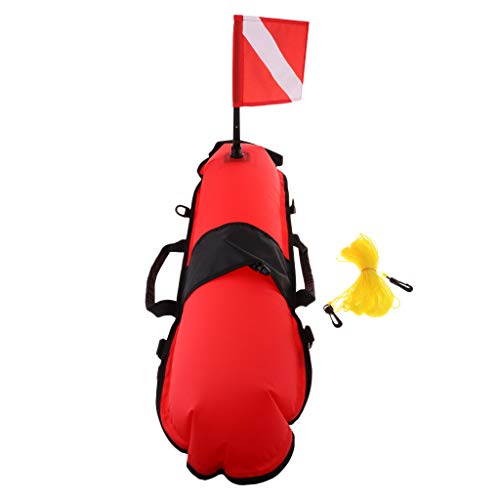 DYNWAVE Diving Floating Mat Water Surface Marker Inflatable Diving Buoy with Flag & Rope