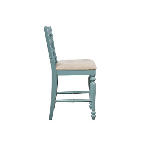Linon Marino Antique Blue Counter Stool