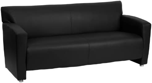 Flash Furniture HERCULES Majesty Series Black LeatherSoft Sofa