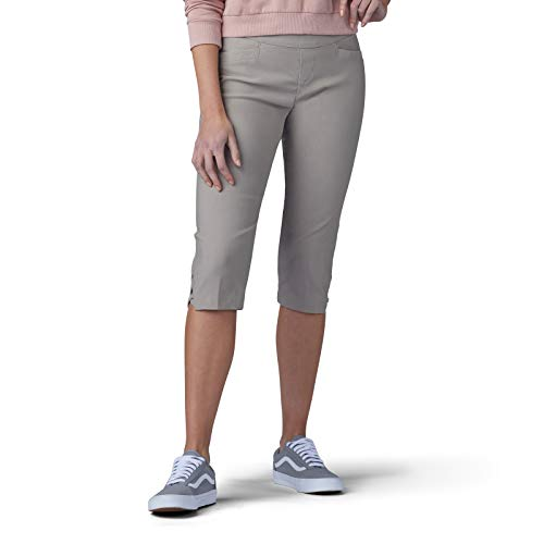 LEE Women's Sculpting Slim Fit Pull-On Vent Hem Skimmer Pant, Moon Rock ()