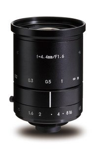 "Kowa LM4NCM 1/1.8"" 4.4mm F1.6 Manual Iris C-Mount Lens, 2 Megapixel Rated"