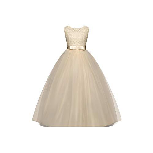 (New Kids Girls Wedding Flower Girl Dress Princess Party Pageant Formal Costume Sleeveless Dresses,he)