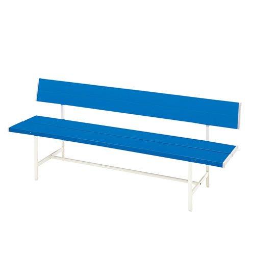 パブリックベンチ 背もたれ付き 幅180cm ガーデンベンチ B009TARH76 25920