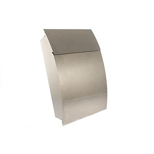 (Tweed Large Capacity A4 Brushed Stainless Steel Postbox Mailbox letterbox Post Box Mail Box Letter Box (Stainless steel))