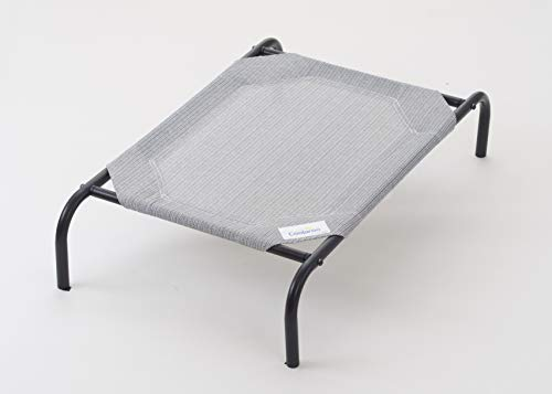 Gale Pacific Coolaroo Elevated Pet Bed with Knitted Fabric, Gris, Mediano