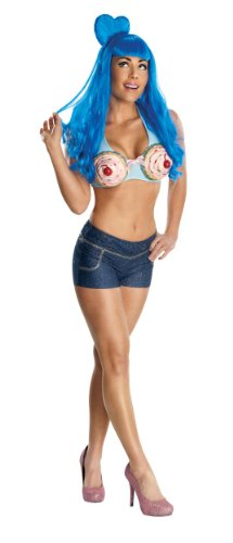 Katy Perry Secret Wishes California Gurl Cupcake Costume, Multicolor, (Katie Perry Costume)