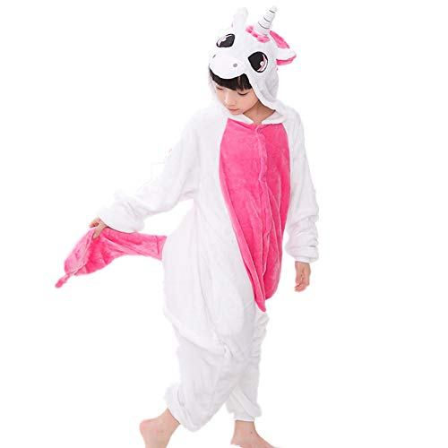 Cute Halloween Cartoon Characters (Kids Unicorn Onesie Pajamas Halloween Costume for Boys Girls Child Pink)