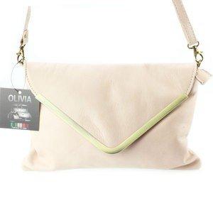Tasche Umschlag N1588–Umhängetasche Damen unterzeichnet Olivia/Tasche Leder Rosa Postel