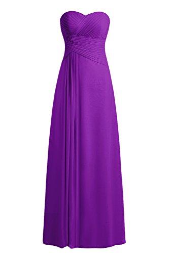 Bbonlinedress Vestido Formal Largo De Gasa De Fiesta De Noche Violeta