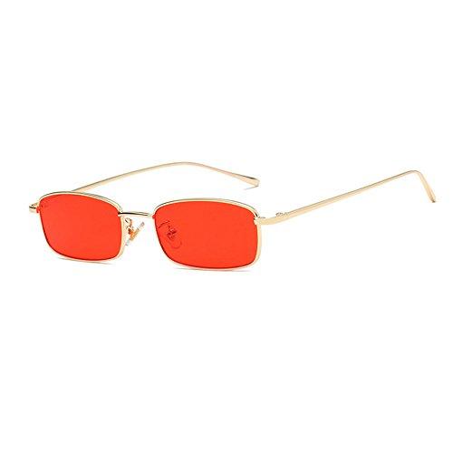de Marco GAOLIXIA Rojo Gafas Gafas hombres vintage de de de cuadradas Gafas sol roja marinas pequeñas lente sol metal de sol de Personalidad los n4xB6Cn