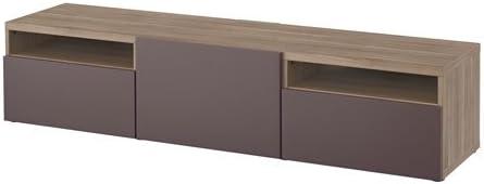 Ikea 16204.11115.3826 - Mueble para TV, Efecto Nogal, Color Gris ...