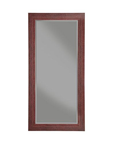 Sandberg Furniture 18511 Leaner Mirror, Full, Rustic Red (Mirror With Red Frame)