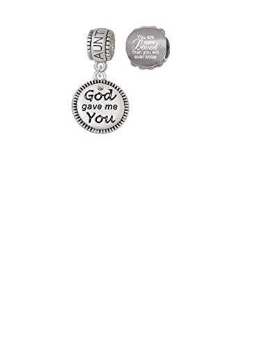 God Gave Me You Aunt Charm Bead with You Are More Loved Bead (Set of 2)