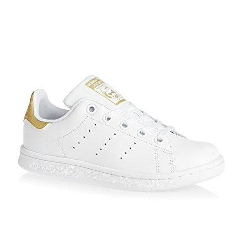 adidas Stan Smith C, Zapatillas de Deporte Unisex Niños Blanco (Ftwbla/Ftwbla/Dormet)