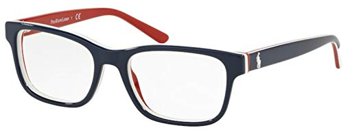 Eyeglasses Polo Prep PP 8534 5667 Shiny Blue/White/Red