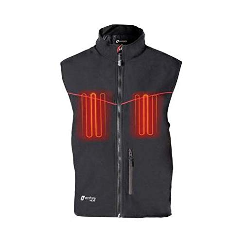(Venture HYB1616 L 12V Hybrid Soft Shell Heated Vest (Black, Large))