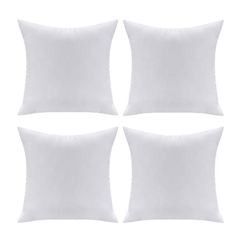 Acanva Soft Polyester Set of 4 Pillow Inserts, 16