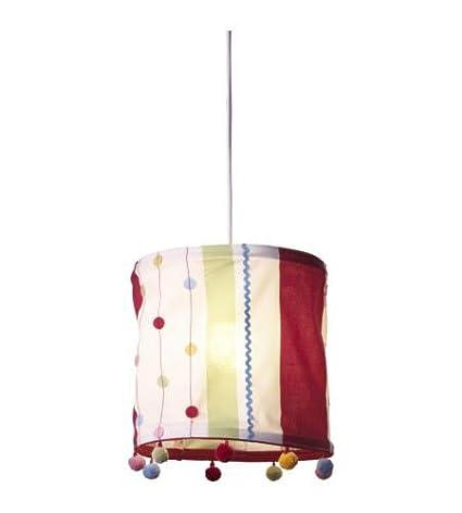 IKEA lámpara de techo colgante para kaxig rojo verde rayas ...