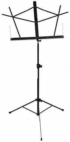Stageline MS2BKB Music Stand - Black with Bag