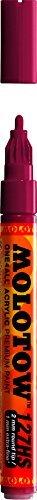 Refillable Burgundy (Molotow ONE4ALL Acrylic Paint Marker, 2mm, Burgundy, 1 Each (127.204))