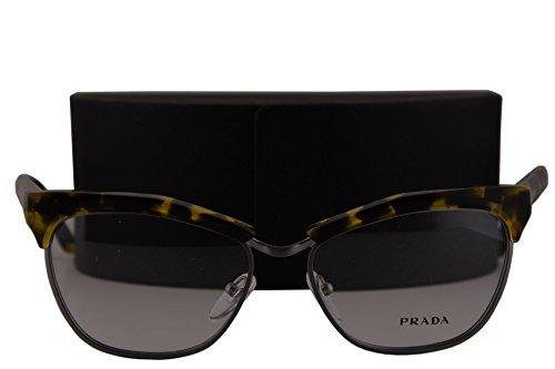 Prada Journal PR14SV Eyeglasses 55-16-140 Yellow Havana UBN1O1 - Journal Prada Glasses
