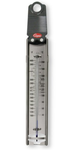 Cooper-Atkins 329-0-8 Glass Tube Bi-Metals Candy Deep-Fry Paddle Thermometer, 100 to 400 degrees F Temperature Range by Cooper