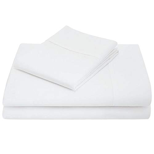 Linen Shoppe Luxurious! 600 TC 100% Organic Cotton Bed Sheet Set Ultra-Soft Durable Comfy Sheets with 16