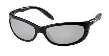 Costa Del Mar Fathom 580P Fathom, Black Silver Mirror, Silver - Mar Sunglasses Costa Del Fathom
