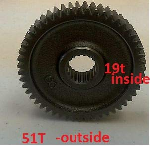 (19T 51T Final Drive Gear for GY6 50cc Scooter Moped ATV)