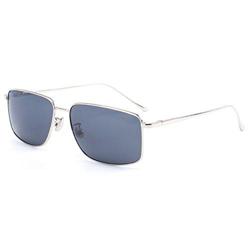 100 Luz Clásico Hombres Color Negro Aire Polarizada Sol UVA Protección De De Protección Anti Solar Libre La Plata Cuadrada WYYY Gafas UV Conducción Gafas Caja Gafas 1q707O