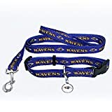 Baltimore Ravens Dog Collar & Leash Set