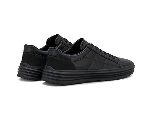 Sneakers Helix H341 Van Leer Zwarte Mannen.