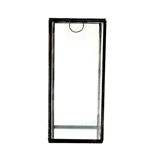 Glass box antique 12x12x26cm