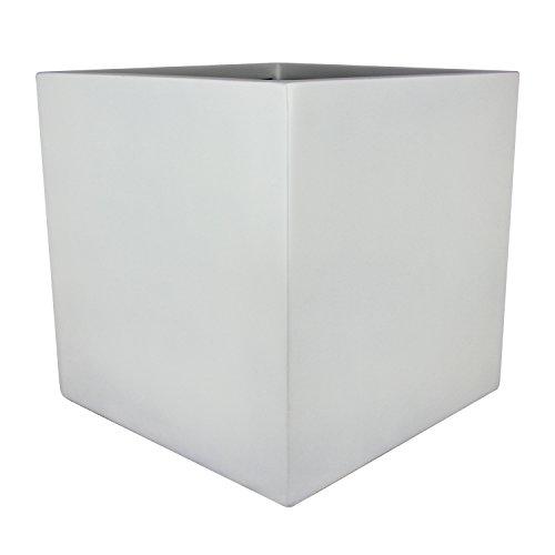 Basel Square Cube Fiberglass Planter Box (L:19